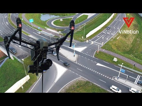 Counting traffic from a drone - YouTube