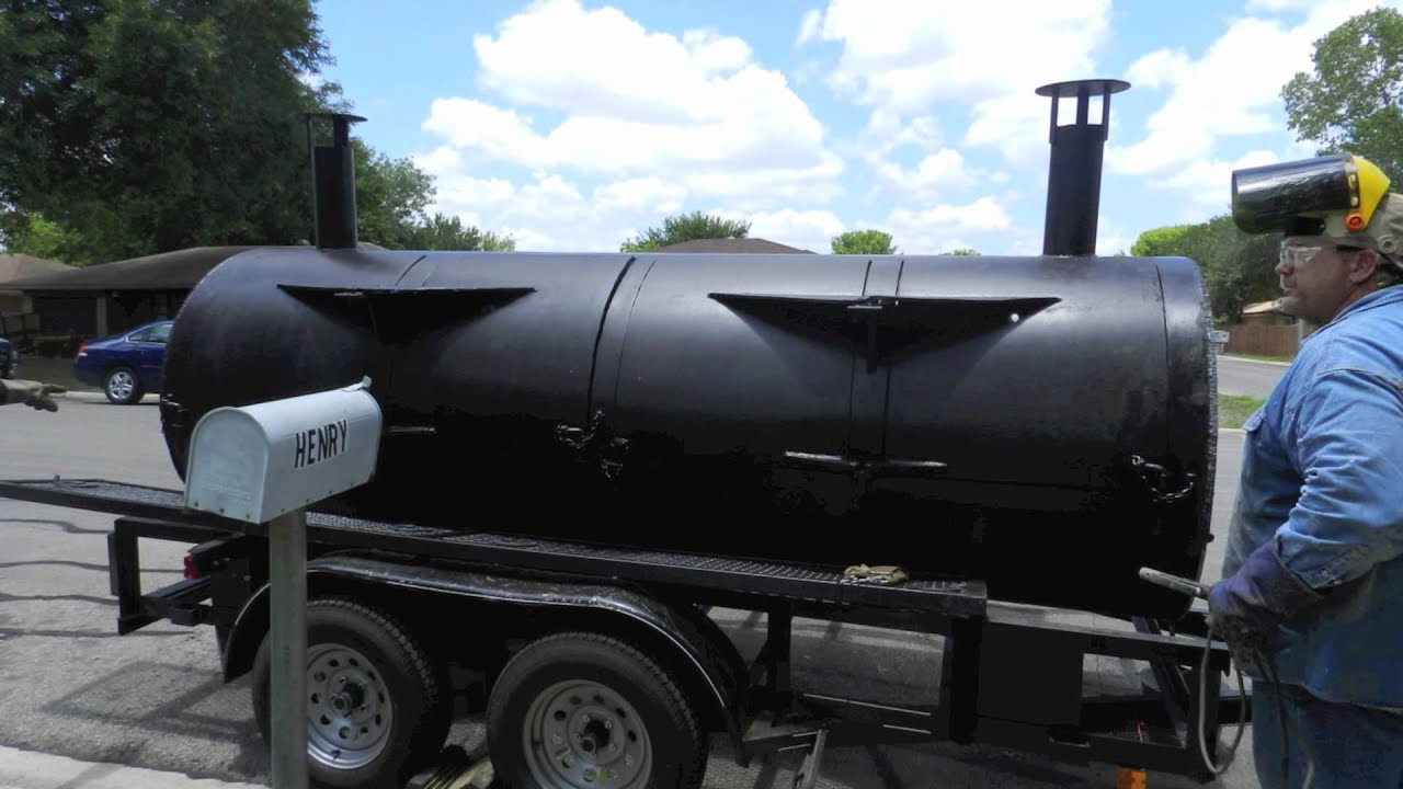 Custom Made Pit (Smoker/Grill) For Sale! Perfect For Restaurant Or  Catering!   YouTube