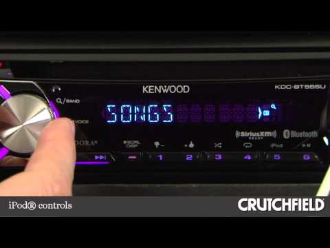 kenwood kdc-bt555u car cd receiver display and controls demo | crutchfield  video - youtube