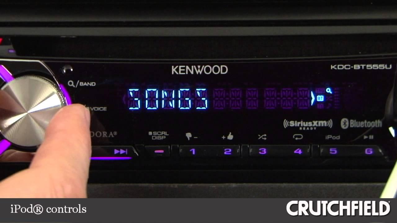 Kenwood Kdc Bt555u Wiring Diagram International Scout Ii Car Cd Receiver Display And Controls Demo Crutchfield Video Youtube