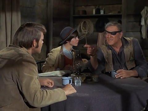 true-grit-(1969)---la-boeuf-(glen-campbell),-rooster-cogburn-(john-wayne)-and-mattie-(kim-darby)