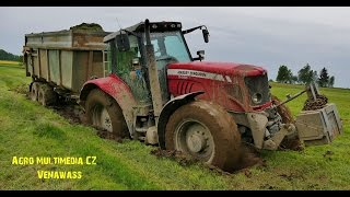 massey ferguson 6480 in the mud case ih maxxum 125 manitou 845