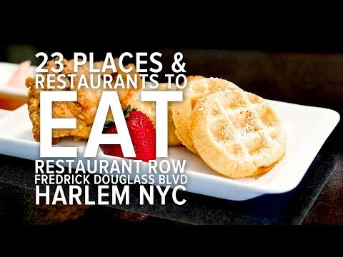 Harlem Restaurants: Best Restaurants In Harlem Restaurant Row New York, Frederick Douglass Blvd