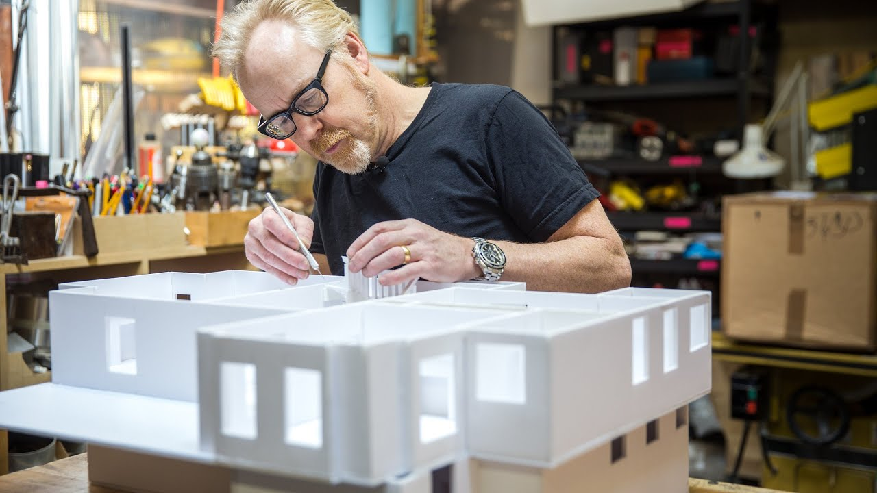 Adam Savage S One Day Builds Foamcore House Youtube