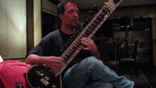 Sitar Player Playing Great Sounding Sitar Music!