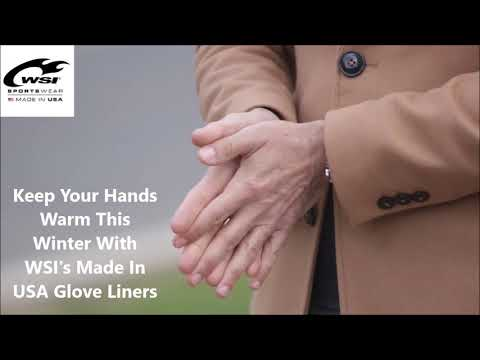 Keep Your Hands Warm During This Winter - Made In USA Glove Liners By WSI Sports (For Men And Women)