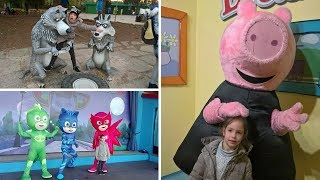 Incontro i personaggi dei cartoni a Leolandia: PJMASKS, MASHA & ORSO, PEPPA PIG e GEORGE!