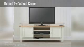 Belfast Tv Cabinet Cream