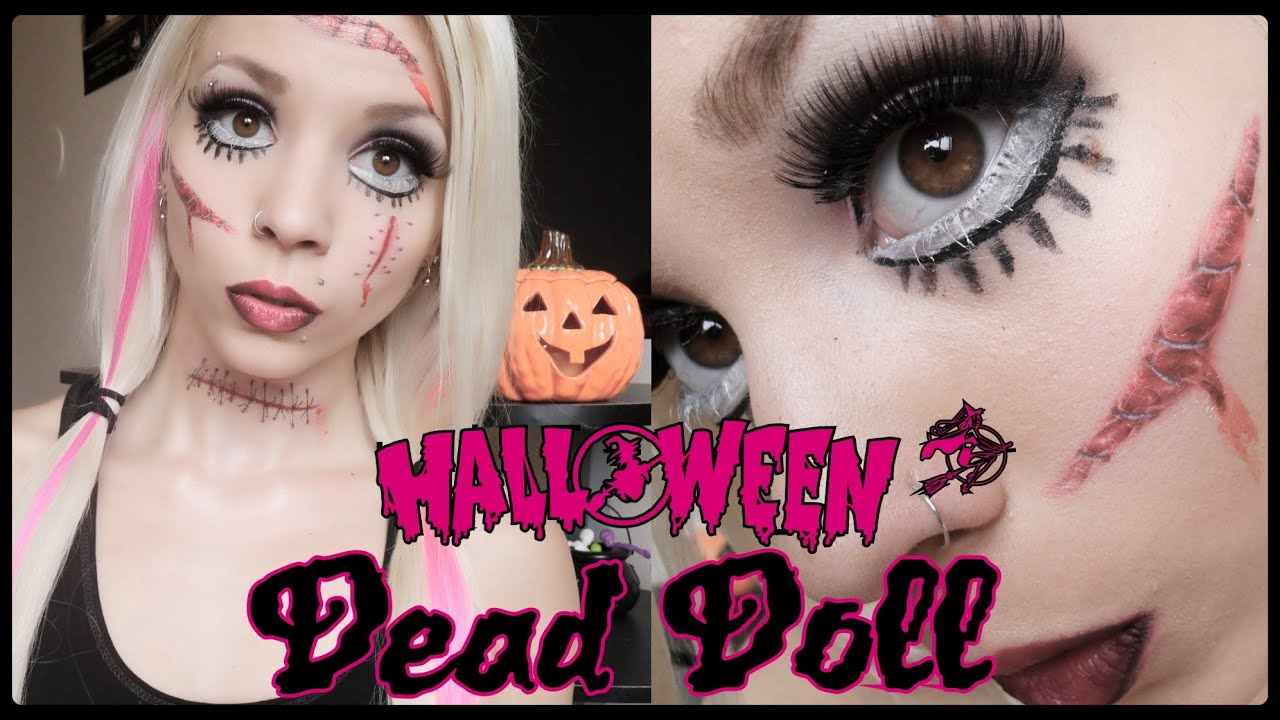 Living Dead Doll | Halloween Makeup. - YouTube