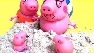 peppa pig свинка пеппа и ее семья пеппа новая серия мультфильм для детей игры на пляже