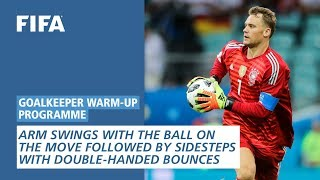 Arm Swings With The Ball On The Move [Goalkeeper Warm-Up Programme]