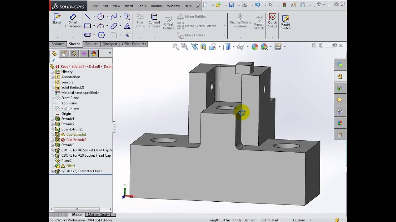 Solidworks 2014 Part Editing Youtube