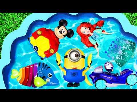 Learn Colors with Toys, Ariel, Pj Masks and Animals for Kids