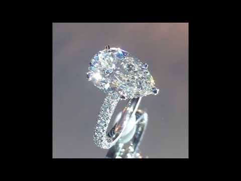 5 Carat Pear Diamond Engagement Ring