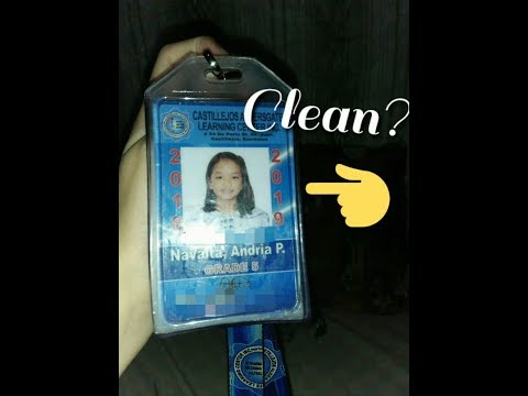BEST WAY TO CLEAN YOUR ID!