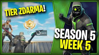 WHERE is the FIFTH FREE TIER FOR SEASON 5 (Week 5)-Fortnite Battle Royale CZ/SK | Lego007las
