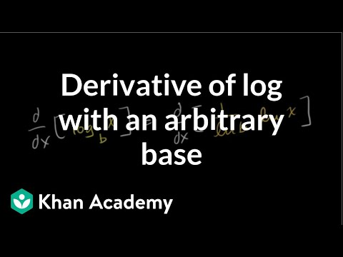 How to take the derivative of a log