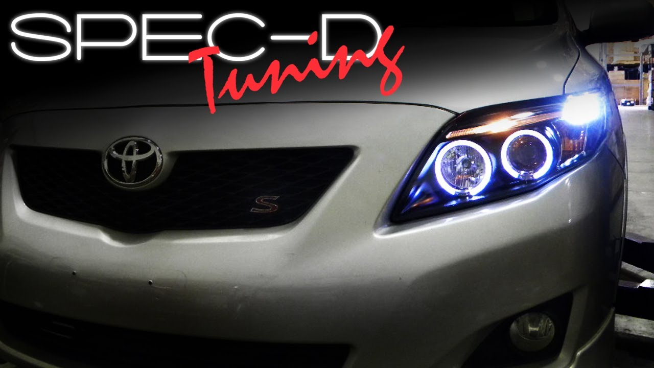 Specdtuning Installation Video 2008 2009 Corolla Projector Headlights You
