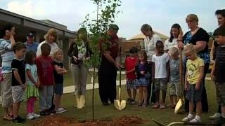 Mges Kindergarten Plants Tree On Arbor Day April 27, 2012