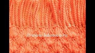 Шарф Катюша - вязание крючком по схеме - Crochet scarf scheme(Мастерская Лилии Улановой - подробные мастер-классы создания красивых, оригинальных и качественных моделе..., 2014-07-19T07:32:36.000Z)