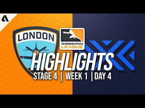 London Spitfire vs New York Excelsior   Overwatch League Highlights OWL Stage 4 Week 1 Day 4