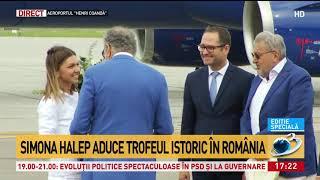 Simona Halep, pe Aeroportul Otopeni. Campioana de la Wimbledon s-a întors acasă