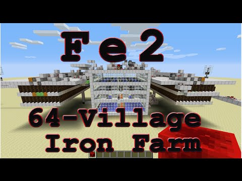 Fe2 [Iron Golem Farm] Minecraft 1.8 - 1.11