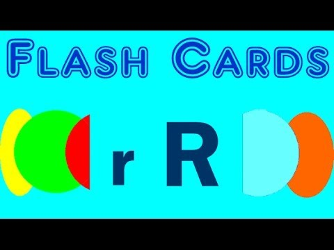 Flash Cards English Words Starting With The Letter R