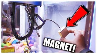CAN YOU HACK A CLAW MACHINE WITH A MAGNET? | Arcade Hacks