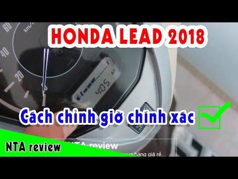 Cách Chỉnh Giờ Xe Lead 2018 | Cách Chỉnh đồng Hồ Xe Tay Ga | NTA Review