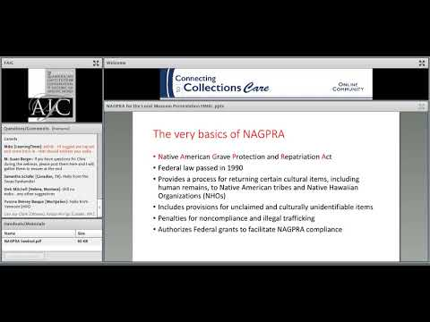 C2CC NAGPRA for the Local Museum: Intro to the Native American Graves Protection & Repatriation Act