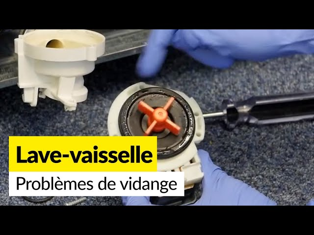 Les 6 causes de problèmes de vidange pour un Lave Vaisselle