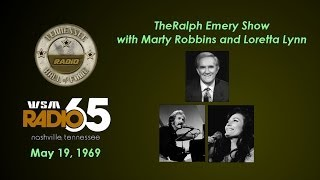 WSM - Ralph Emery with Marty Robbins & Loretta Lynn May 19, 1969