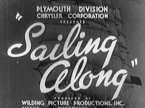 1937 Chrysler Plymouth Line On the Move : Sailing Along - CharlieDeanArchives / Archival Footage
