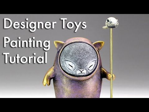 Designer Toys: Painting Tutorial- How to paint with acrylics