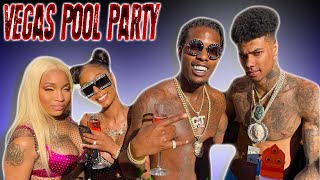 BLUE FACE AND LIL BABY POOL PARTY WITH ROYALTY AND CJ SO COOL