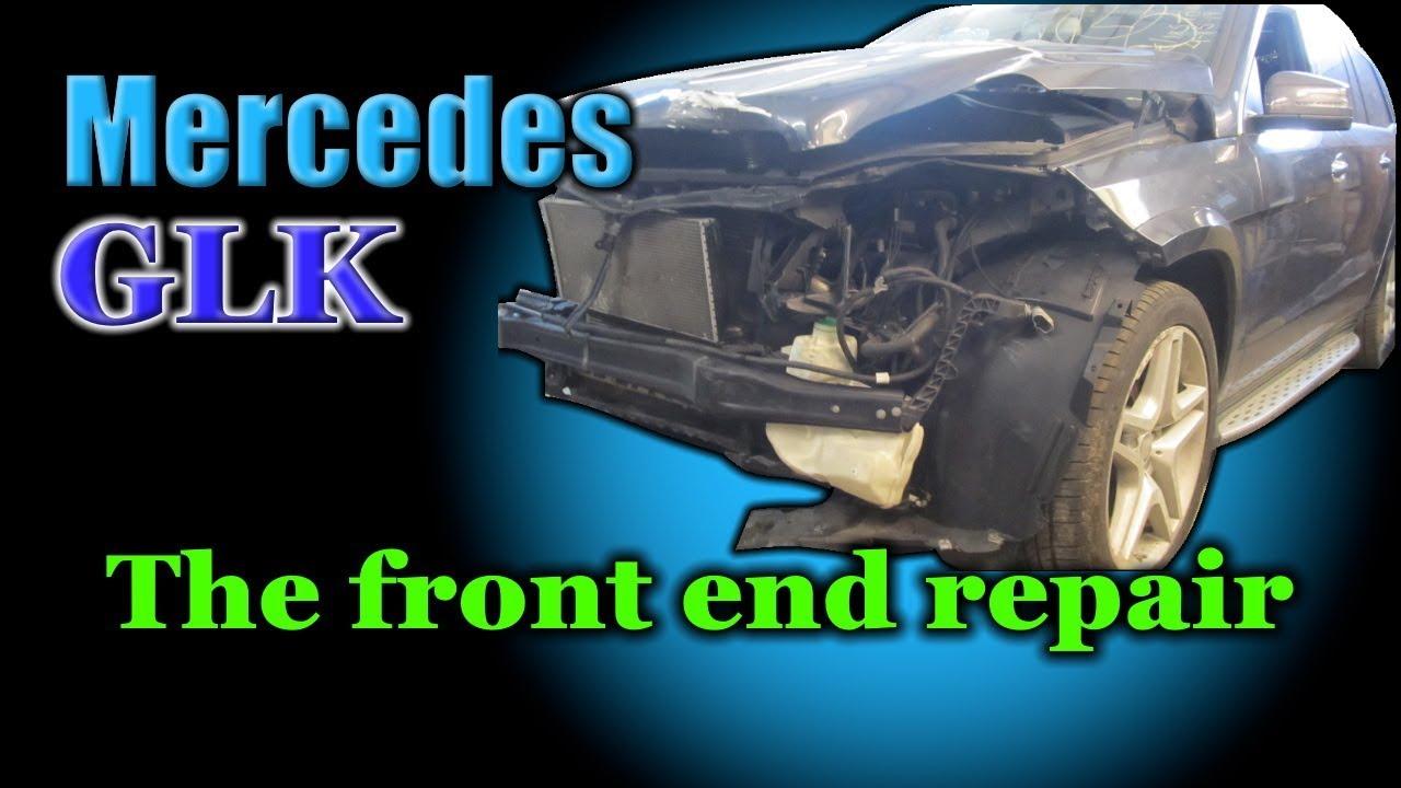 Mercedes GL. The front end repair. Ремонт переда.
