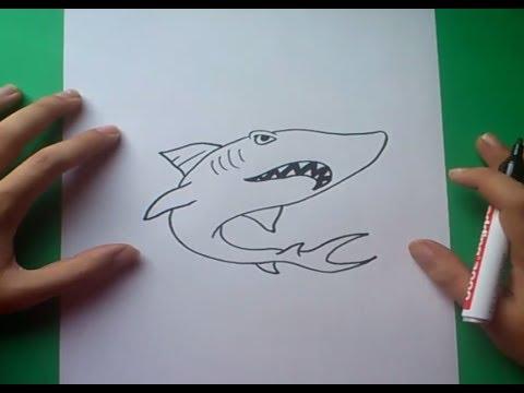 Como dibujar un tiburon paso a paso 2  How to draw a shark 2