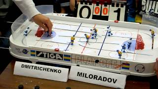Table Hockey. Moscow Open 13. Dmitrichenko-Miloradov. Game 1