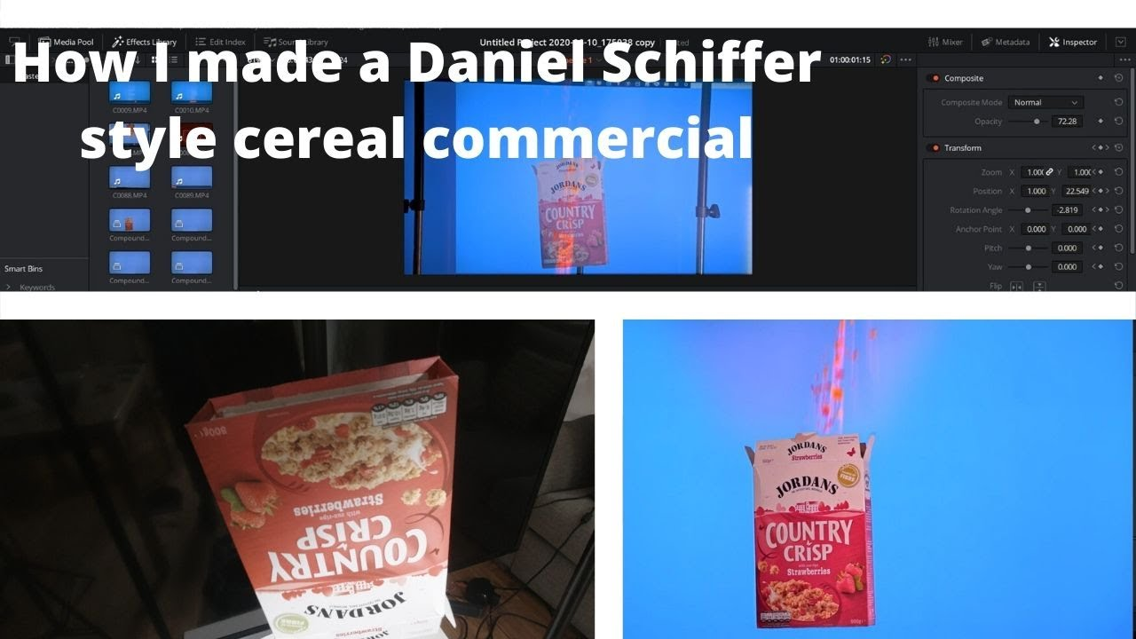 How I made a Daniel Schiffer style cereals video in my living room using my TV 🥣🥣