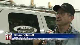 News   West Fargo man's trailer with $30k of equipment stolen from job site