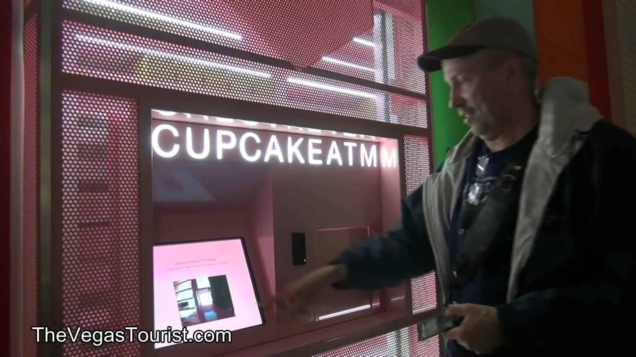 The 24 hour cupcake ATM in Las Vegas YouTube