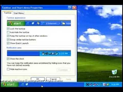 Customizing Your Windows XP Start Menu And Taskbar
