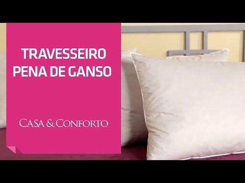 Travesseiro Penas de Ganso Casa & Conforto | Shoptime