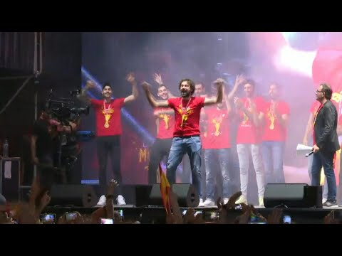 Spain's basketball team celebrates World Cup victory in Madrid | AFP