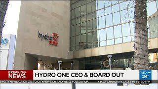 Hydro One CEO retires and board resigns
