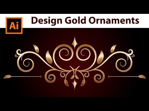Adobe Illustrator - How to draw Gold Border Ornaments