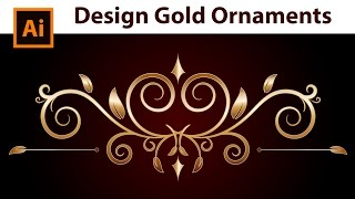 Adobe Illustrator - How to draw Gold Border Ornaments