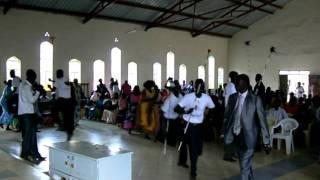 South Sudan independence celebration in Nairobi: dancing by Dinka Padang