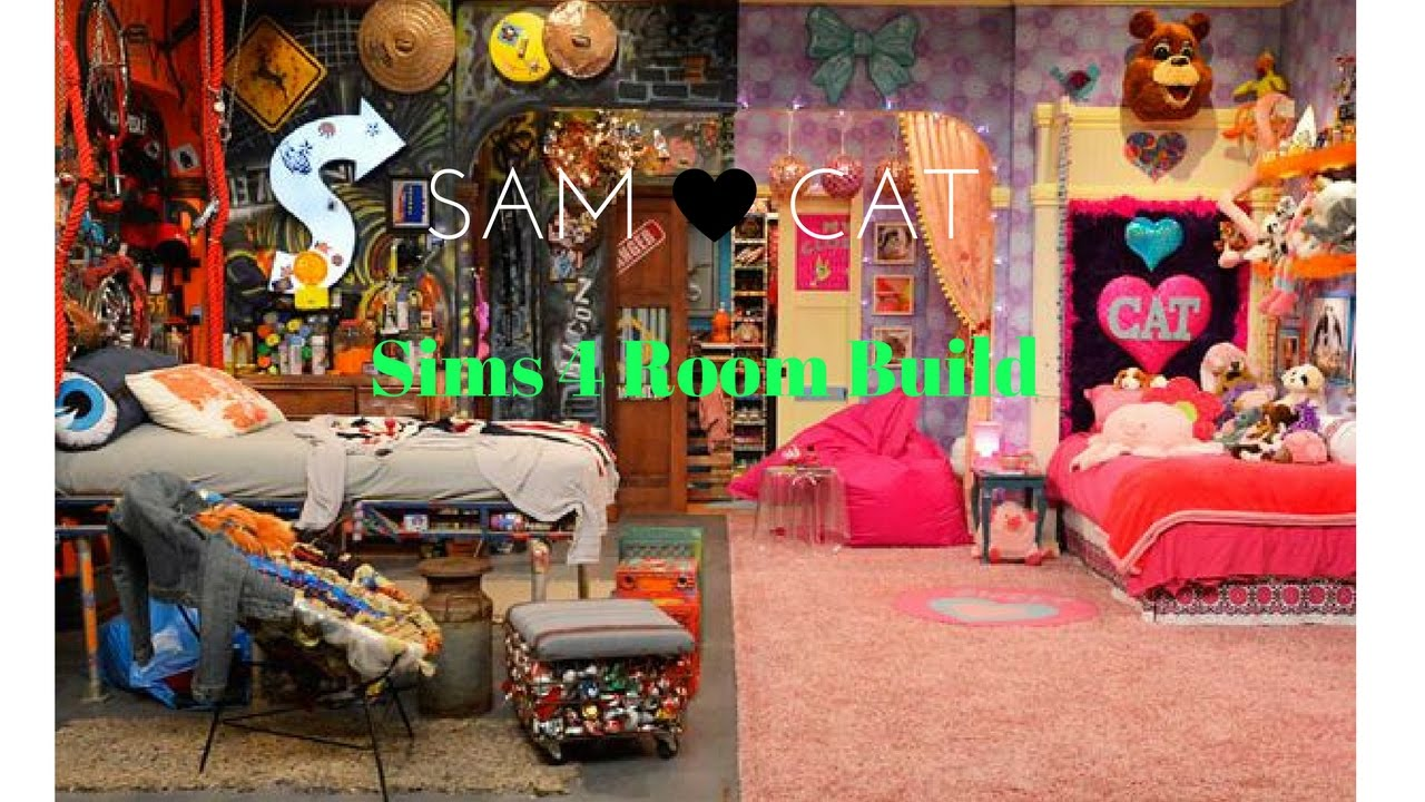 sam and cat bedroom sam and cat inspired room sims 4 build no furniture 17027